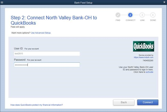 North Valley Bank - Southeastern Ohio - Business - Quickbooks Data