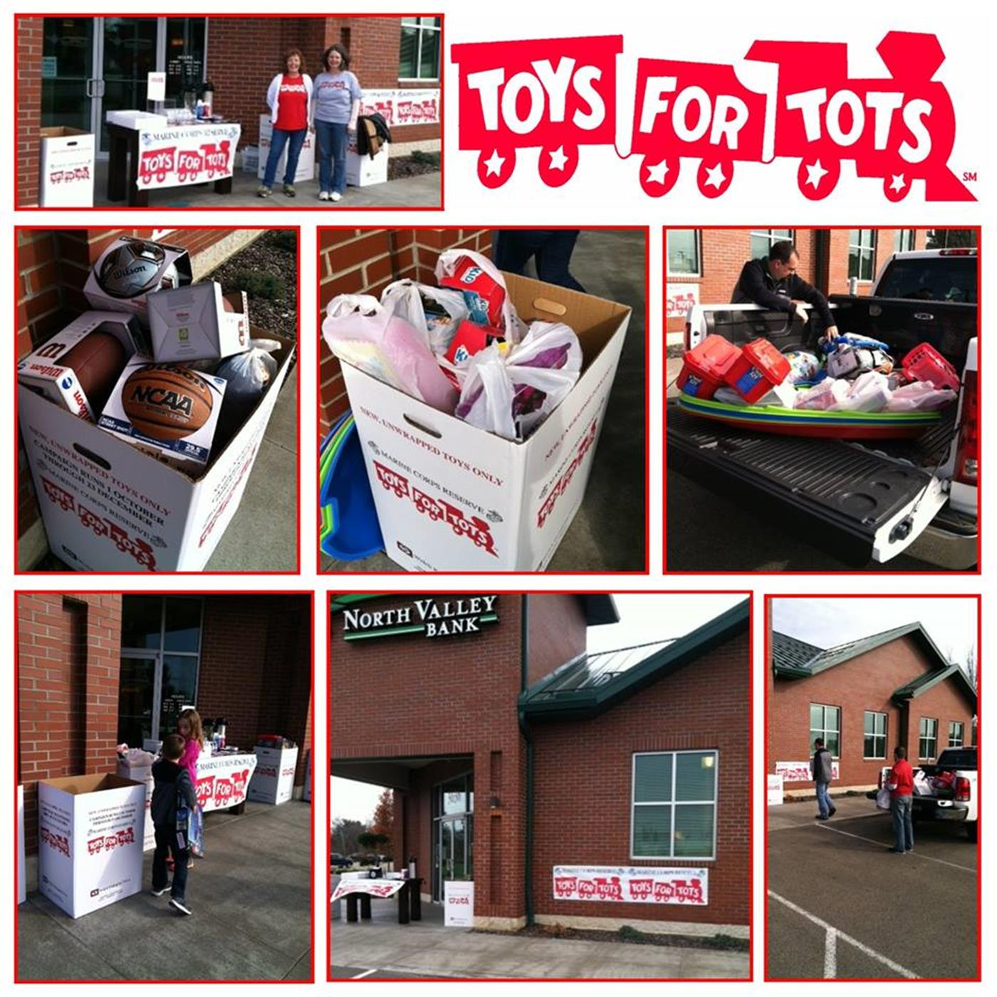 North Valley Bank Toys For Tots