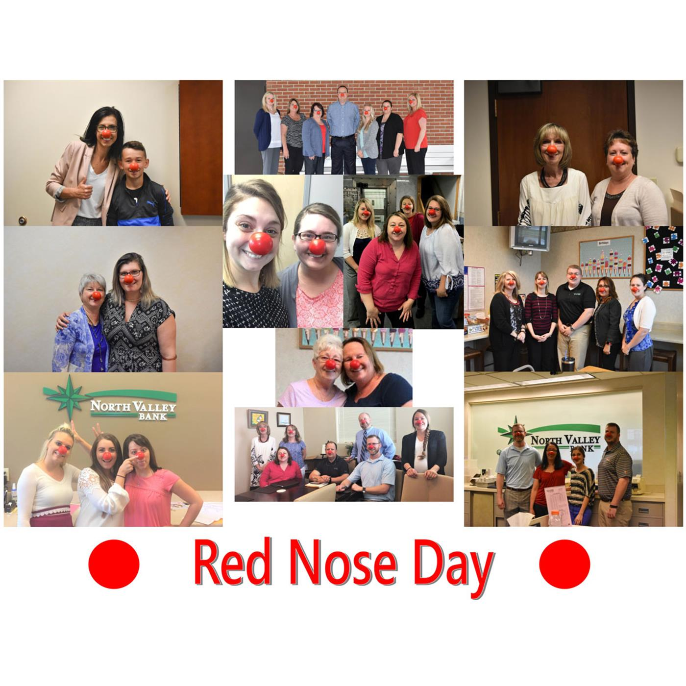 Red Nose Day Collage